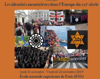 Colloque INRER : Les identités meurtrières dans l'Europe du XXIe siècle