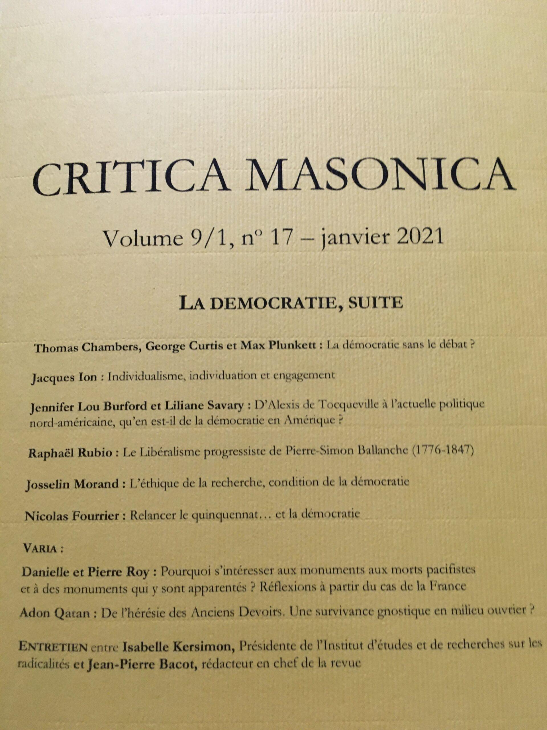 Critica Masonica